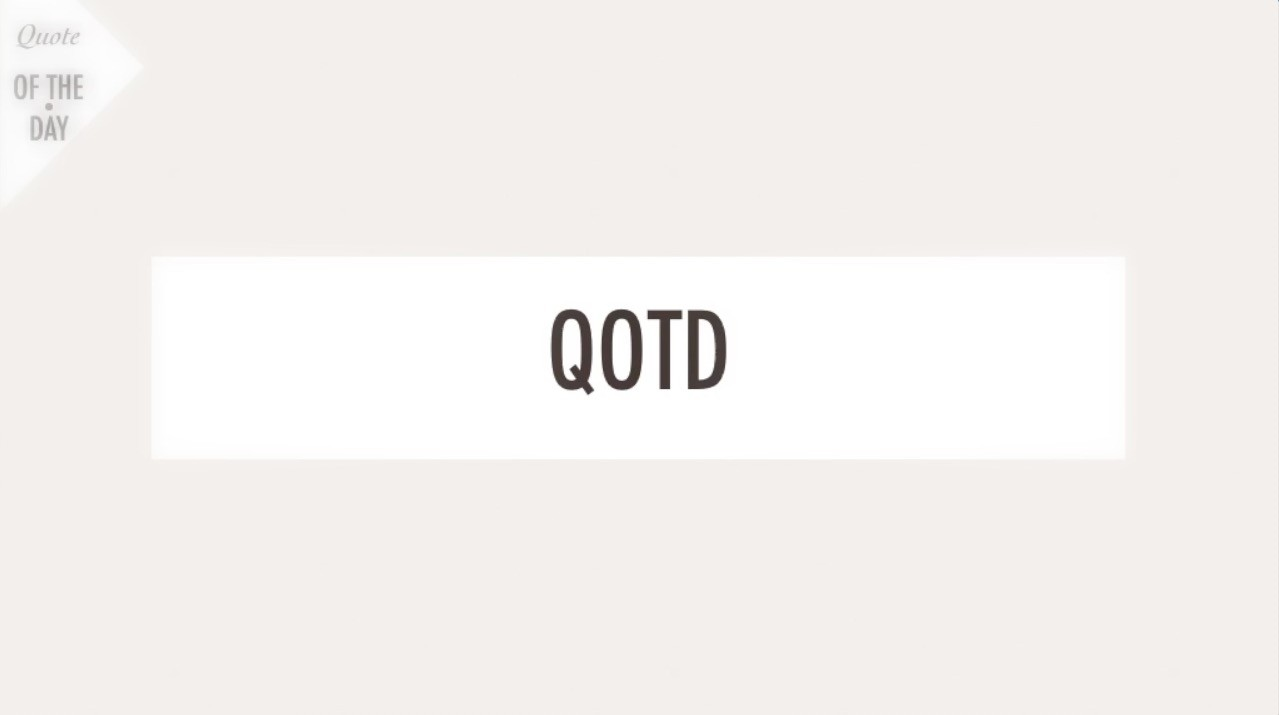 qotd find happiness quit struggling